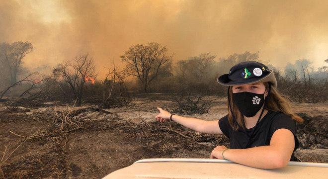 ONGs atuam no Pantanal durante incêndios