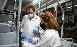 A Unicamp e o IPT (Instituto de PesquisasTecnológicas) realizaram testes de resistência física do tecido e sua eficáciana ação antiviral