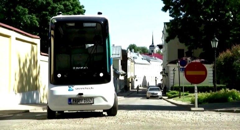 Ônibus começou a circular pelas ruas da cidade universitária de Tartu