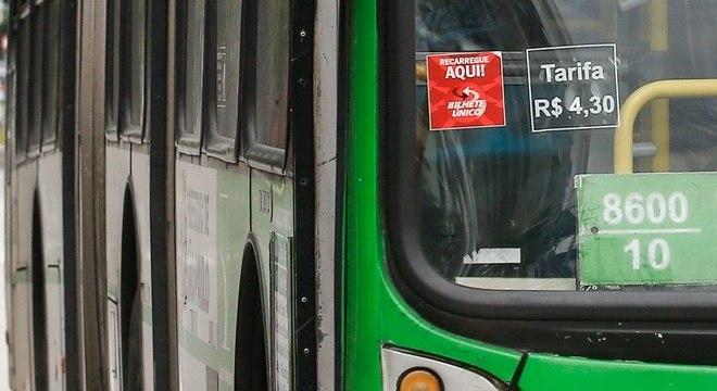 Tarifa de ônibus registrou índice de 2,12% em abril deste ano