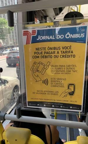 Informe da SPTrnas sobre pagamentos por aproximação