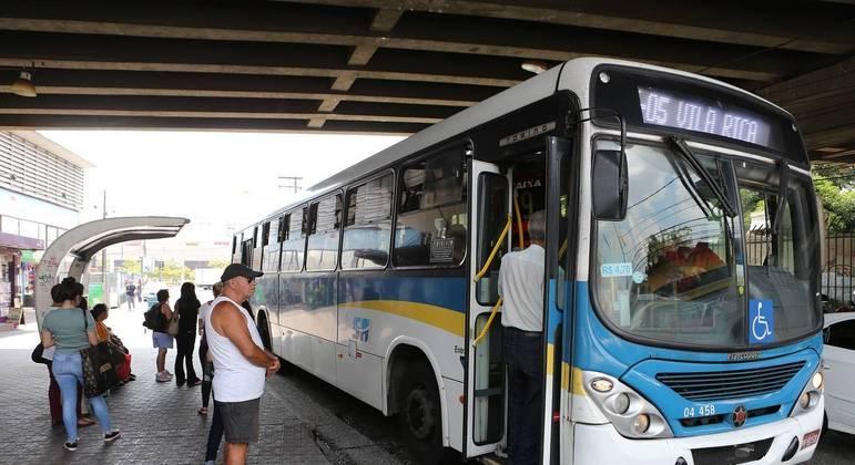 Ônibus em circulação em Santo André