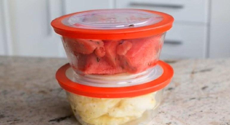 Opção 1: Frutas picadas