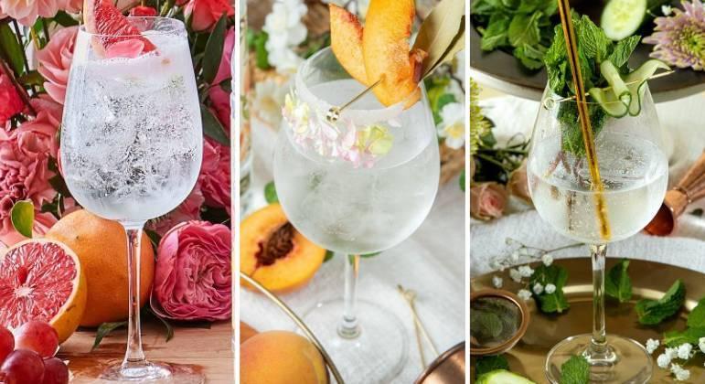 Bebidas combinam pêssego e flor de laranjeira; toranja e rosa; e pepino com menta