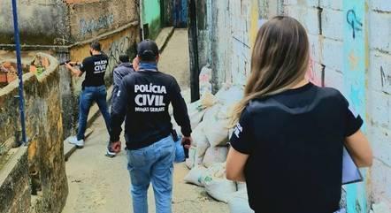 Polícia fez ações em diferentes regiões