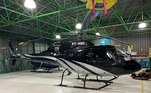 A operação apreendeu diversos bens da facção, entre eles um helicóptero