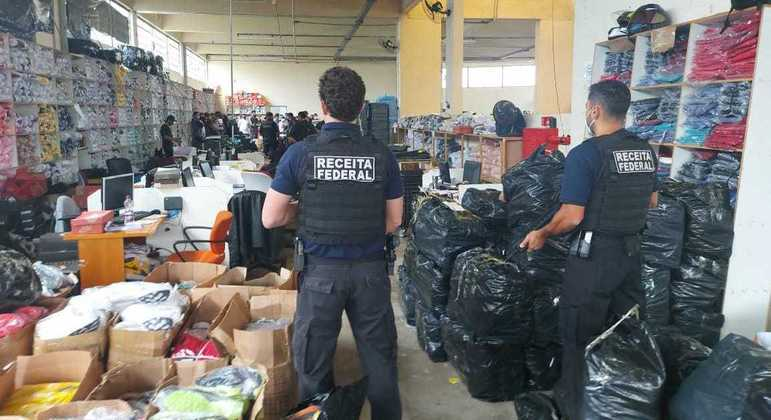 Receita Federal desmonta esquema milionário de venda de mercadorias falsificadas