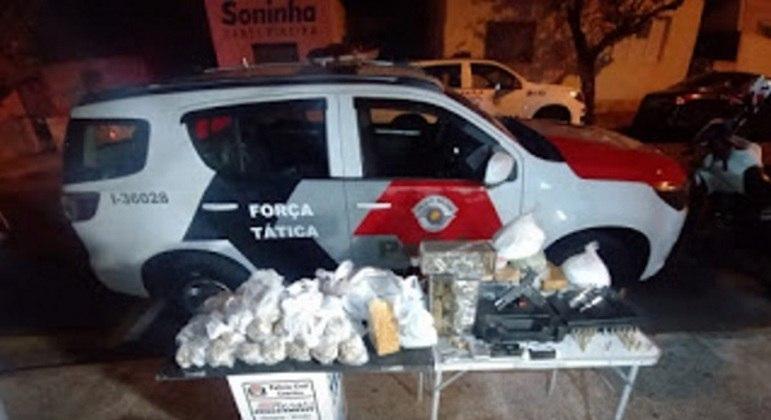 PMs detém dois suspeitos por tráfico de drogas e porte ilegal de arma de fogo em Limeira (SP)
