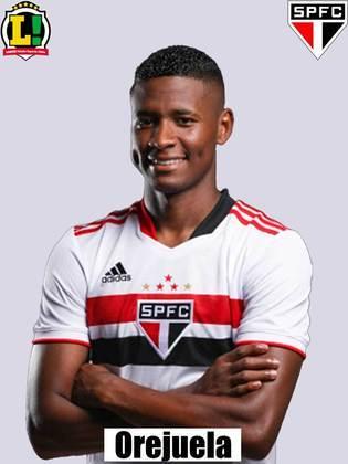 Orejuela - 7,0 - O colombiano estreou pelo São Paulo com um gol ainda nos primeiros minutos de jogo. O restante de sua atuação foi mediano, mas o seu gol foi crucial para o Tricolor.