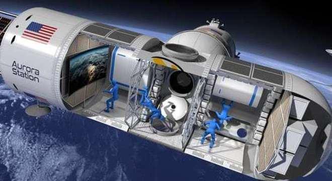 A capacidade máxima da Aurora Station é de seis pessoas