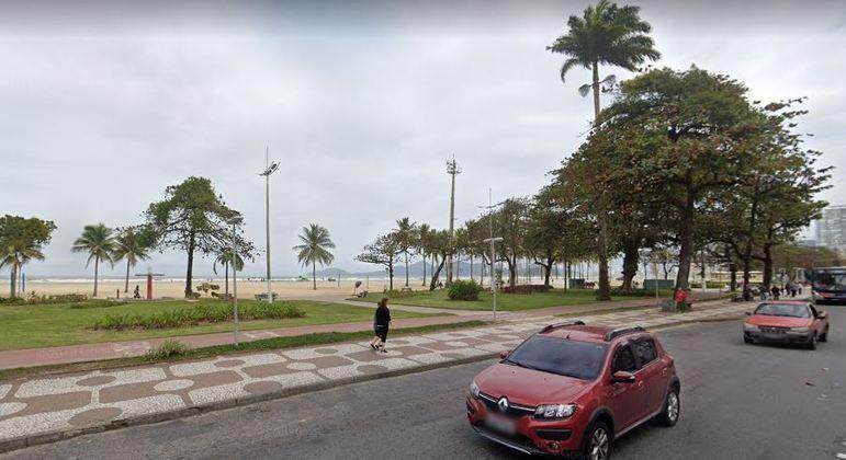 Réu foi abordado na orla de Santos (SP)
