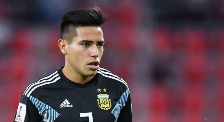 Ortega, na Seleção sub-23 da Argentina. Inter e Grêmio também queriam o jogador