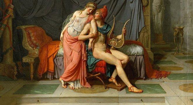 'Os Amores de Paris e Helena', de Jacques Louis David (1748-1825)