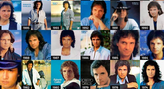 Roberto sempre gostou de mudar os cabelos