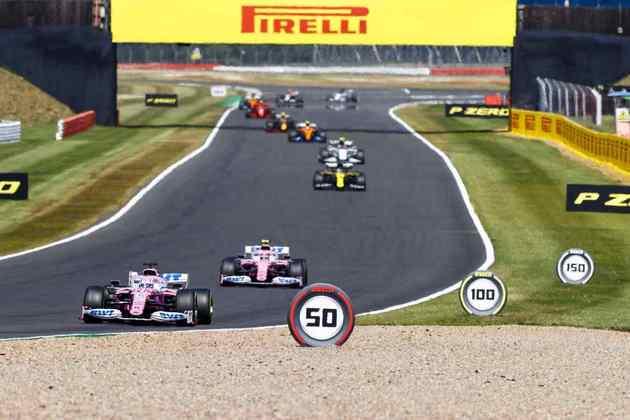 Os carros da Racing Point ficaram com a sexta e sétima posição no GP dos 70 Anos