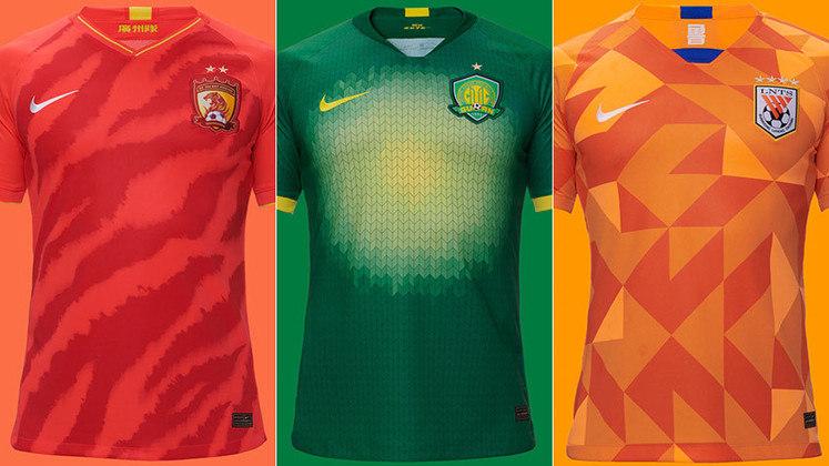 Os clubes do Campeonato Chinês lançaram suas camisas para a temporada 2020. Todos os 16 times são vestidos pela Nike, por conta de contrato firmado desta forma com a liga que comanda o futebol na China. Muitos dos novos uniformes apresentam desenhos ousados. Confira os lançamentos na galeria. A Superliga Chinesa 2020 ainda não tem data prevista para iniciar.