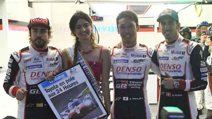 Os companheiros na jornada de Alonso foram Kazuki Nakajima e Sébastien Buemi