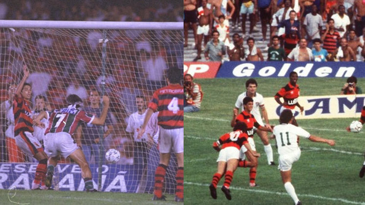 Os confrontos entre Flamengo e Fluminense são sempre marcantes e, neste Campeonato Carioca, as equipes terão mais um jogo para marcar na história, na segunda partida da decisão do Estadual de 2021, neste sábado (22), às 21h05, com transmissão da Record TV para todo o Brasil. No clássico 433, as equipes decidem quem será o campeão, após empate no primeiro jogo (1 a 1). O Fla tem 158 vitórias, contra 134 do Flu, além de 140 empates. O Rubro-Negro será o mandante neste segundo duelo. Relembre jogos históricos do clássico: