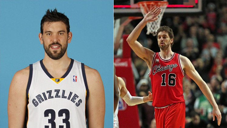 Os irmãos Marc (Toronto Raptors) e Paul Gasol (ex-Portland Trail Blazer) encantam os apaixonados pelo basquete por onde passam.
