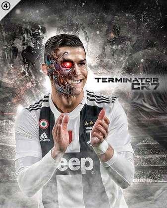 Os memes brincando com Cristiano Ronaldo e robôs sempre fazem sucesso entre os torcedores
