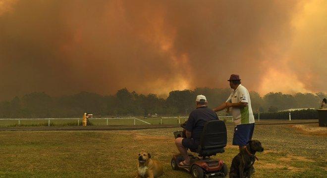 Nova Gales do Sul, estado da Austrália, enfrentou condições catastróficas