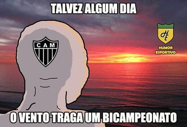 Os rivais do Atlético-MG provocam o clube pela ausência de bicampeonatos no currículo