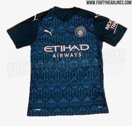 Os sites Footy Headlines e Todo Sobre Camisetas já vazaram a nova camisa 2 do Manchester City, que será lançada em breve.