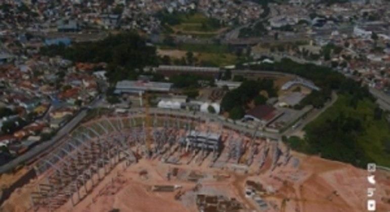 Os trabalhos na Arena MRV estão em dia e a obra deve ser entregue no prazo previsto, em 2022