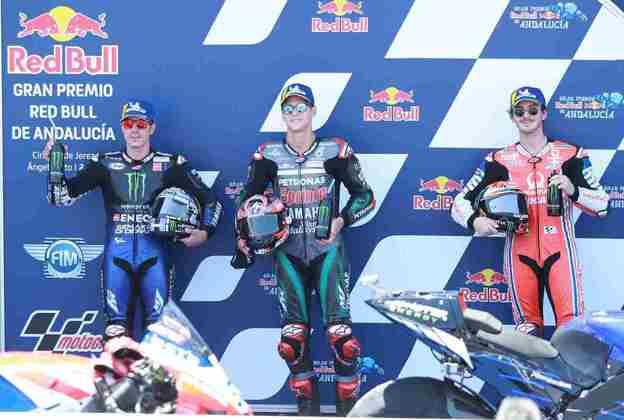 Os três primeiros da classificação em Jerez