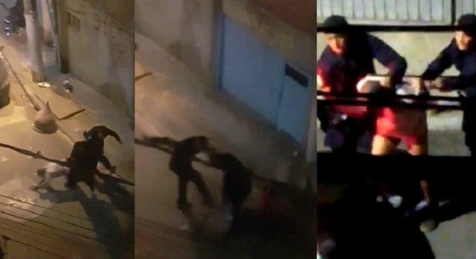 Vídeos gravados por moradores mostraram agressão e disparos de GCMs