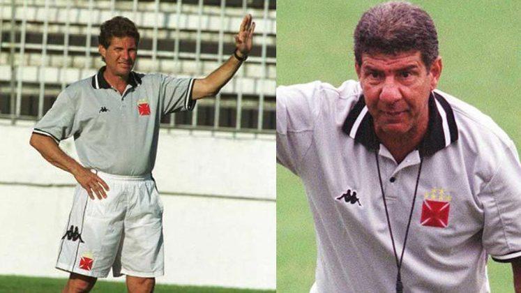 Oswaldo de Oliveira/Joel Santana - Vasco 2000: naquela temporada, o clube carioca trocou o comando no final do ano e o 'Papai Joel' entrou no lugar de Oswaldo de Oliveira. Mesmo com o pouco tempo de trabalho e na reta final de duas competições, Joel  foi campeão da Copa João Havelange e Mercosul com a equipe