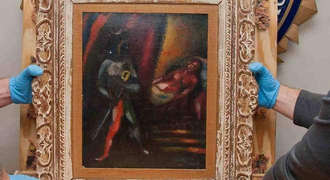 FBI recuperou o quadro 'Otelo e Desdêmona', do pintor russo Marc Chagall