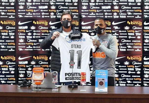 Otero - Apresentado em 25 de agosto - Contratado junto ao Atlético-MG há cerca de um mês e já se tornou peça essencial no time por conta de sua qualidade nas bolas paradas - Fez sete jogos oficiais, quatro como titular, marcou um gol e deu uma assistência.