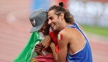 Atletas da Itália e do Catar levam ouro duplo raríssimo no atletismo