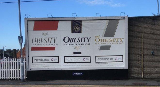 Campanha foi criticada porque estimularia a gordofobia