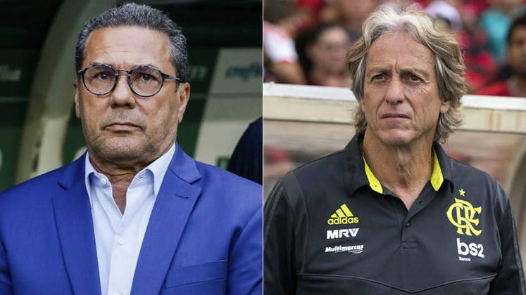 Outra comparação é entre treinadores brasileiros e estrangeiros. Vanderlei Luxemburgo de um lado e, mesmo no Benfica agora, Jorge Jesus do outro.