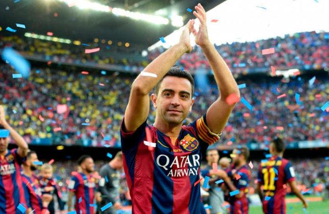 Outro ícone do Barcelona e da Espanha, Xavi conquistou 33 títulos na carreira.