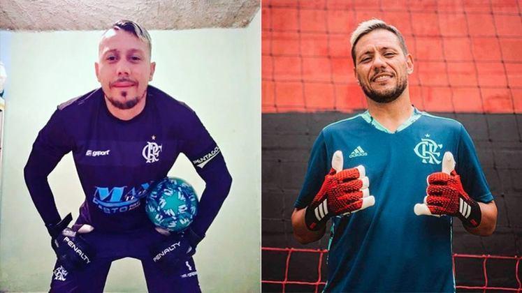 Outro rubro-negro que ganhou um sósia foi Diego Alves, arqueiro do Flamengo desde 2018 e ídolo da torcida do Flamengo.