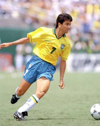 Outro tetracampeão mundial faz parte da lista de artilheiros da Seleção Brasileira. BEBETO marcou 39 vezes em 76 partidas.