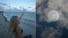 Óvni esférico e brilhante é flagrado por casal de youtubers em praia