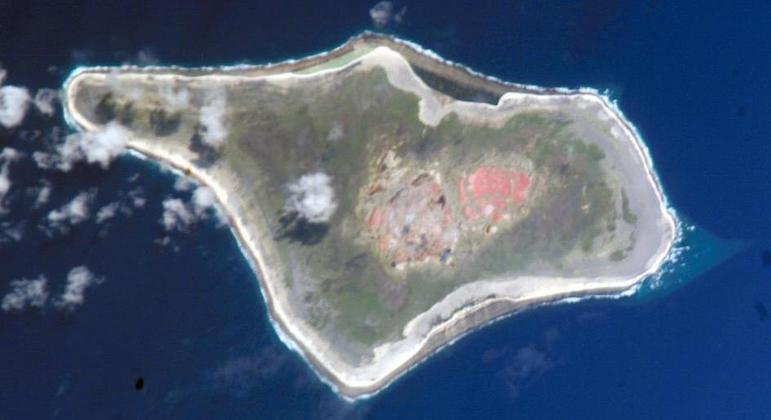 A ilha Starbuck é muito pequena e não tem presença humana