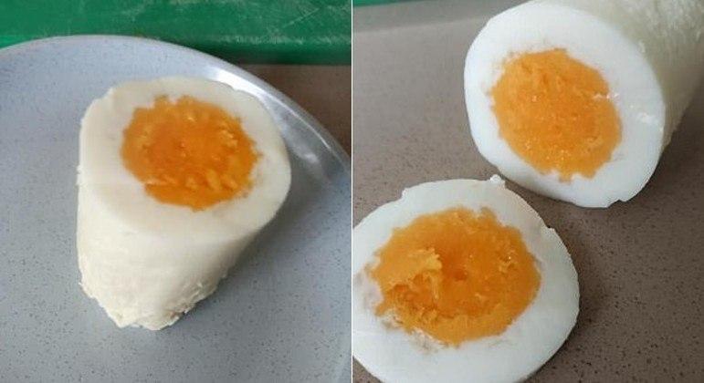 Ovo cozido cilíndrico surpreendeu e chocou internautas no Facebook