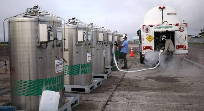 A demanda por oxigênio chegou a 73 mil  metros cúbicos
