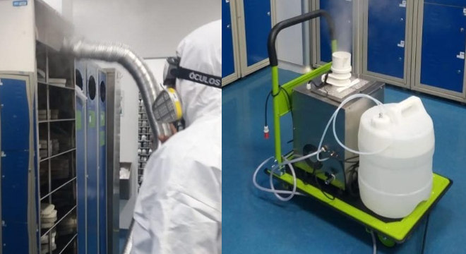 Ozônio pode ser utilizado em vapor ou como gás para limpeza de superfícies e do ar