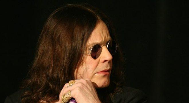 Ozzy Osbourne na coletiva de imprensa do Ozzfest, 2007