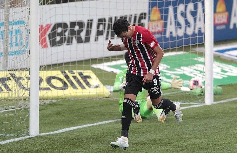 Pablo marcou o gol do São Paulo contra o Palmeiras. Derrota dolorida