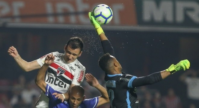 São Paulo, sem imaginação e confiança, insistiu em levantar a bola para a área