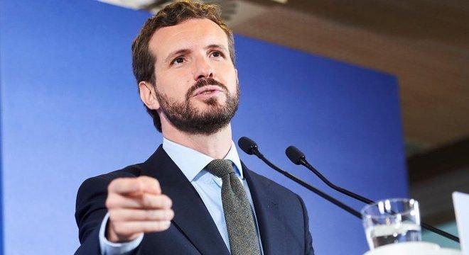 Pablo Casado é o secretário-geral e candidato do Partido Popular para as eleições de novembro