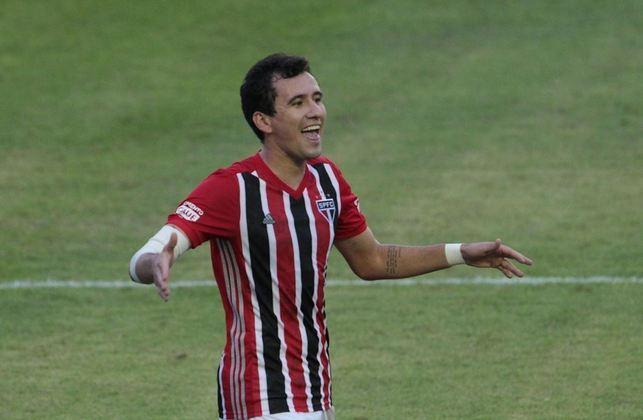 Pablo - o atacante de 29 anos tem contrato com o São Paulo até dezembro de 2022.