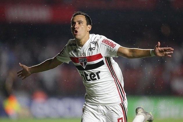 Pablo - São Paulo 2 X 0 Água Santa - Camisa 9 abriu o placar logo no primeiro chute no Morumbi